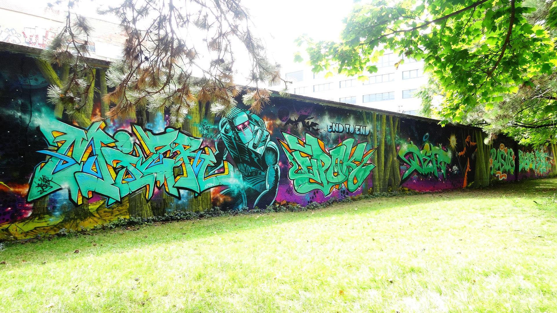 Fresque Graffiti réalisée à Chambery