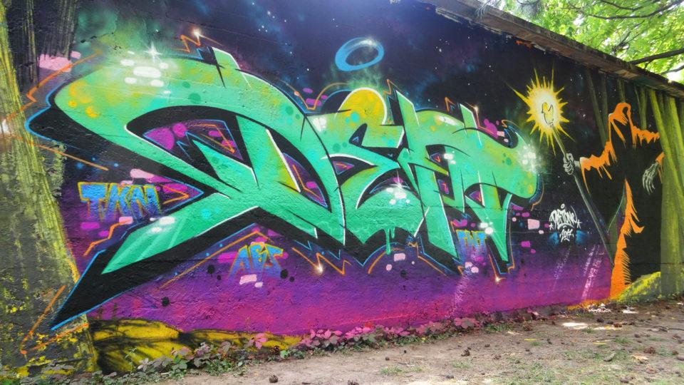 Deft - Graffiti réalisé à Chambery