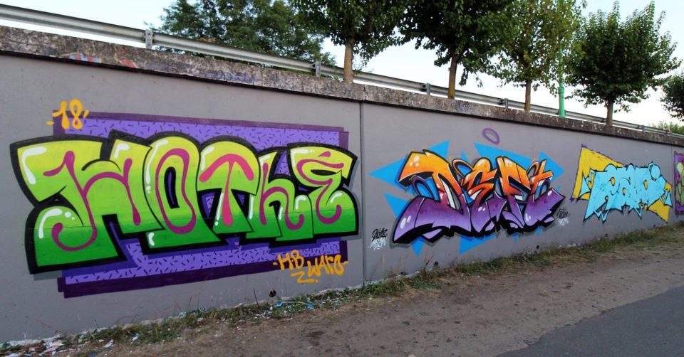 Hothe - Deft - Radi - Graffiti