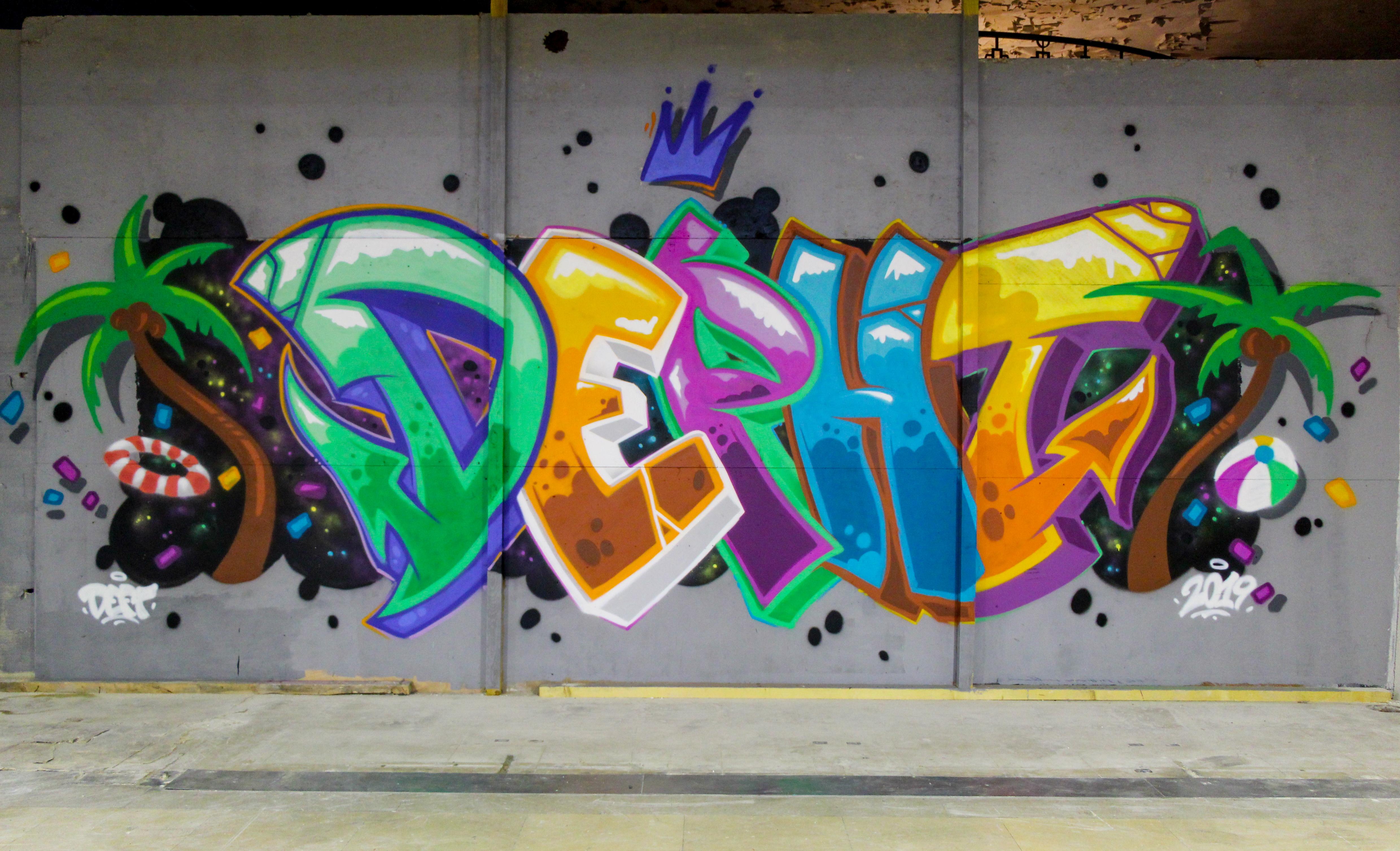 Graffiti Depht passage de l'Élysée vichy